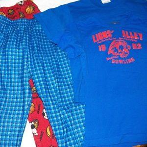 Other - 4 PC Boys Size 6/8 Pajamas - 2 Shirts 2 Pants